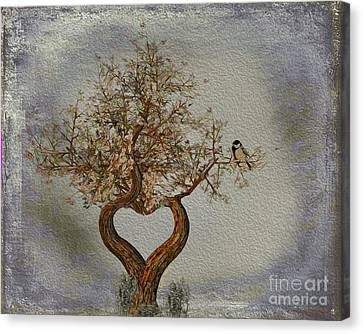 Romance Tree Canvas Print by Cheryl Young