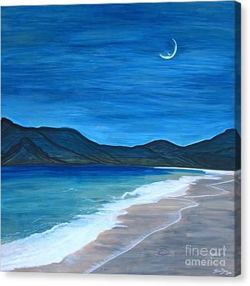 Romancing The Moon Canvas Print by Barbara Donovan
