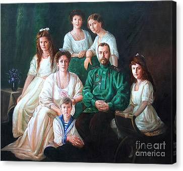 Romanov Family Portrait Canvas Print by George Alexander