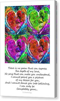 Romantic Art - Completely Yours - By Sharon Cummings Canvas Print by Sharon Cummings