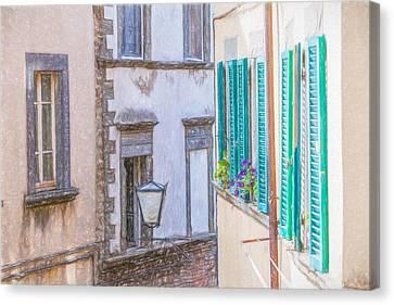 Romantic Cortona Canvas Print by David Letts