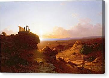 Romantic Landscape Canvas Print by Antal Ligeti