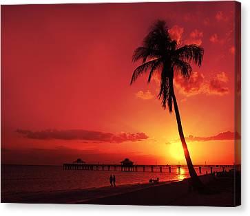 Romantic Sunset Canvas Print by Melanie Viola