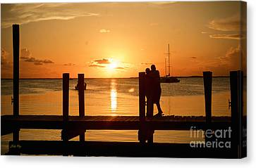 Romance Canvas Print featuring the photograph Romantic Sunset by Judy Kay