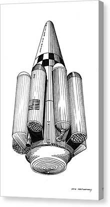 Rombus Heavey Lift Reusable Rocket Canvas Print by Jack Pumphrey