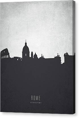 Rome Italy Cityscape 19 Canvas Print by Aged Pixel