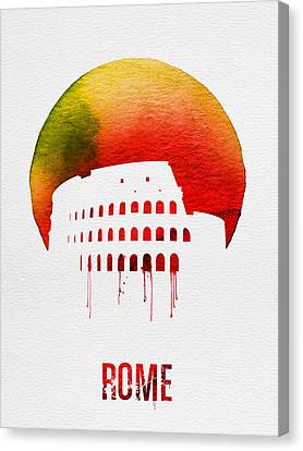 Rome Landmark Red Canvas Print by Naxart Studio
