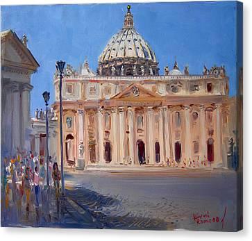 Rome Piazza San Pietro Canvas Print by Ylli Haruni