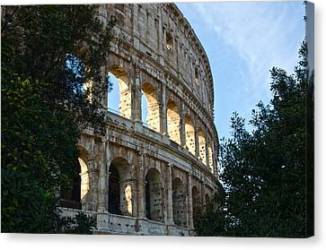 Rome - The Colosseum - A View 4 Canvas Print by Andrea Mazzocchetti