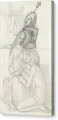 Romeo And Juliet, With Friar Lawrence Canvas Print by Simeon Solomon