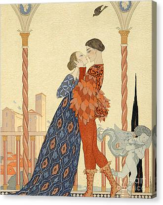 Romeo And Juliette Canvas Print by Georges Barbier