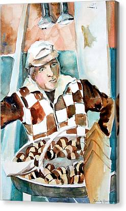 Romes Chesnut Man Canvas Print by Mindy Newman
