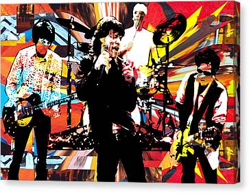 Ron Mick Charlie Keith Canvas Print by Kevin Newton
