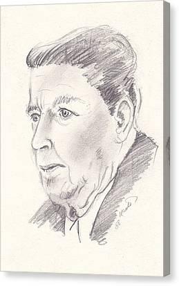 Ronald Reagan Canvas Print by John Keaton