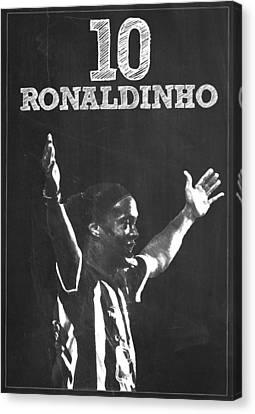 Ronaldinho Canvas Print by Semih Yurdabak