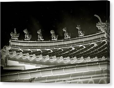 Roof National Palace Museum Taiwan City - Taipei  Canvas Print by Christine Till