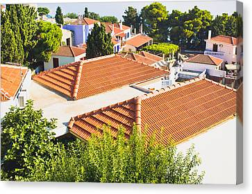 Roof Tops Canvas Print by Tom Gowanlock