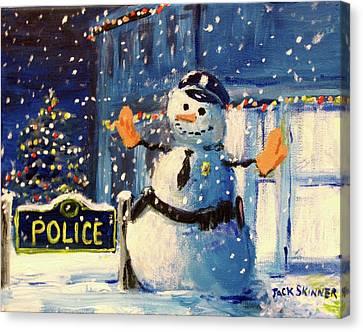 Rookie Working Christmas Eve Canvas Print by Jack Skinner