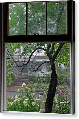 Room With A Rainy View Canvas Print by Juergen Roth