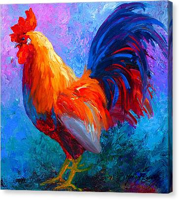 Rooster Bob Canvas Print by Marion Rose