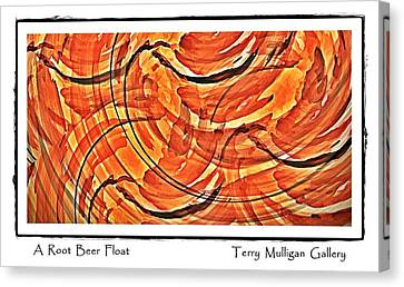 Canvas Print featuring the digital art Root Beer Float by Terry Mulligan