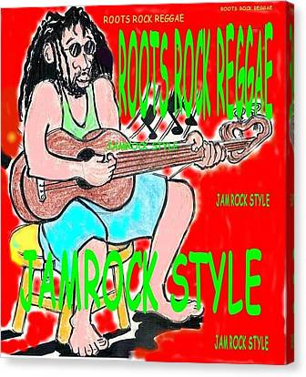 Roots Rock Reggae Canvas Print by Anthony Williams
