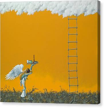 Rope Ladder Canvas Print by Jasper Oostland