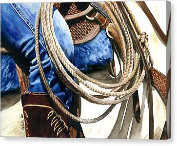 Rope Canvas Print by Nadi Spencer