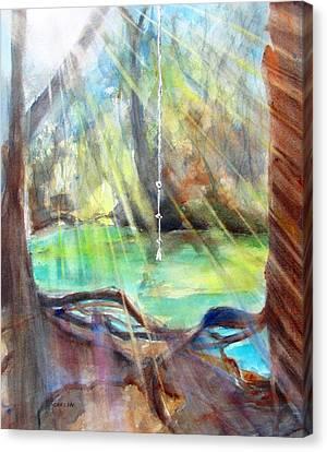 Rope Swing Canvas Print by Carlin Blahnik