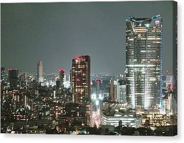 Roppongi From Tokyo Tower Canvas Print by Spiraldelight
