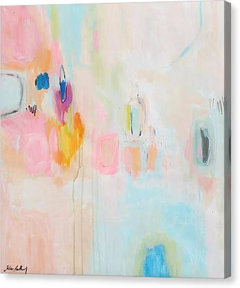 Rosa Abstract Canvas Print by Jolina Anthony