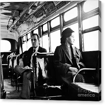 Rosa Parks (1913-2005) Canvas Print by Granger