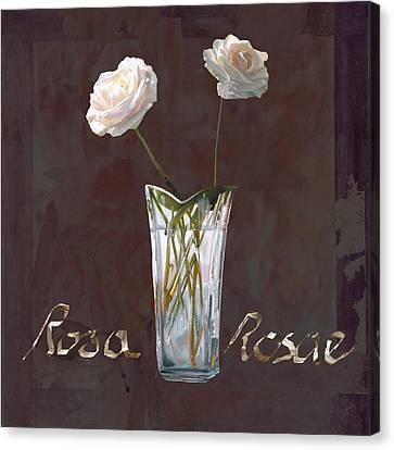 Rosa Rosae Canvas Print by Guido Borelli