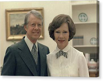 Rosalynn Carter And Jimmy Carter Canvas Print by Everett