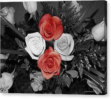 Rose Bouquet Canvas Print by DigiArt Diaries by Vicky B Fuller