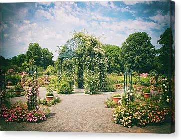Rose Garden Pergola Canvas Print by Jessica Jenney