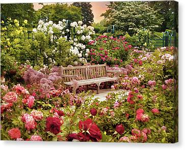 Rose Garden Sunset Canvas Print by Jessica Jenney