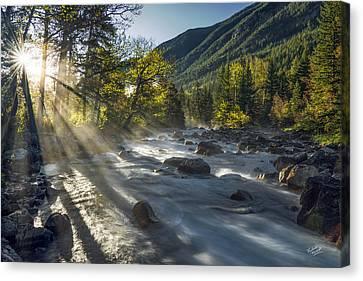 Rosebud Creek Sunrise Canvas Print by Leland D Howard