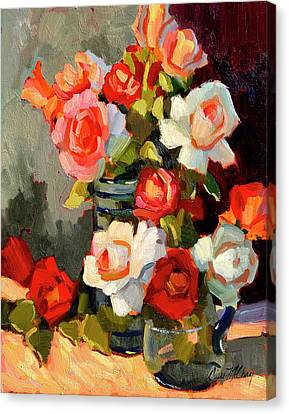 Roses From My Garden Canvas Print by Diane McClary