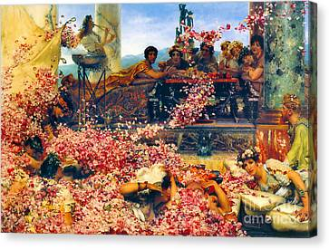 Roses Of Heliogabalus 1888 Canvas Print by Padre Art