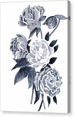 Roses Canvas Print by Robbi  Musser