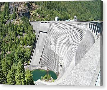 Ross Dam In North Cascades National Park Canvas Print by Dan Sproul