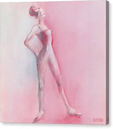 Rosy Pink Ballerina Canvas Print by Beverly Brown