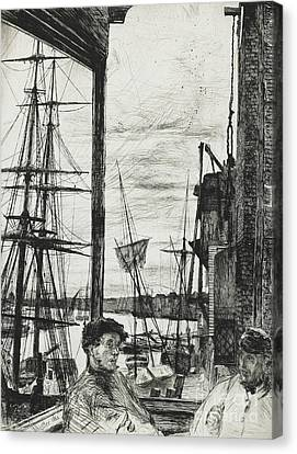 Rotherhithe Canvas Print by James Abbott McNeill Whistler