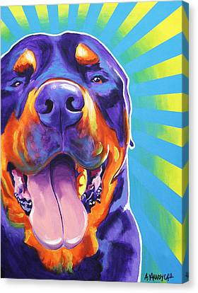 Rottweiler - Duncan Canvas Print by Alicia VanNoy Call