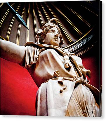 Rotunda Colossals 2 Of 3 Vatican Museum Ancient Statues Rome Italy Canvas Print by Andy Smy