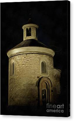 Rotunda Of St Martin At Night Canvas Print by Michal Boubin