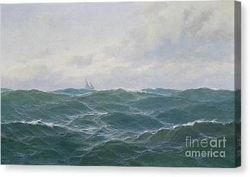 Rough Seascape Canvas Print by Celestial Images
