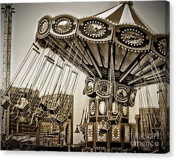 Round And Round In Coney Canvas Print by Onedayoneimage Photography