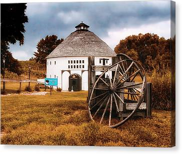 Round Barn Canvas Print by Thomas Woolworth